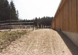 Zugangswege befestigt